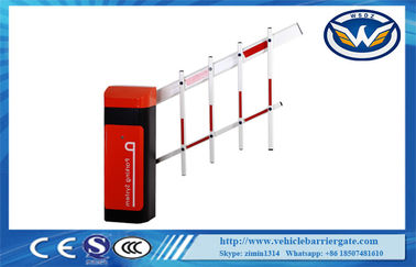 Cina IP44 Gelar Car Park Barriers 24V Brushless Motor DC Dua Pagar Boom Gate pemasok